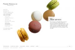 Macarons Marcolini Website by Nicolas Jandrain